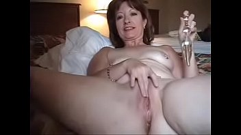 Spy Web Cam Catching Mother Stroking Alone Bedroom