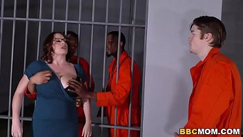 Huge-boobed Mother Maggie Green Takes 2 Bbcs In A Prison