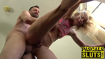 Lengthy Legged Jentina Gets Her Humid Fuckbox Ruined By Enormous Boner