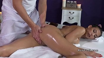 Phat Jugs Honey Gets Rubdown And Giant Spear